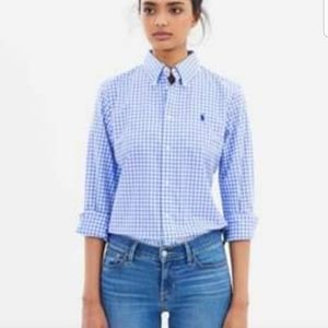 Brand New Ralph Polo Slim Fit Gingham Shirts